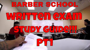 barber state baord study guide pt 1 youtube