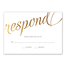 response card style script foil response card invitations by