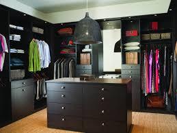 furniture walk in closet with black closet organizer