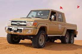 land cruiser pickup this 6x6 toyota land cruiser is a dune crushing monster