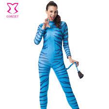 blue jumpsuit costume blue zebra na vi jumpsuit costume costumes