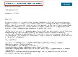 Social Media Community Manager Resume Social Media Manager Resume Sample Sioncoltdcomsocial Media