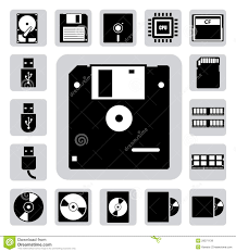 Storage Devices by Computer Storage Devices Clipart Free Here