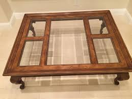 drexel coffee table drexel heritage chatham oak glass coffee table original owner