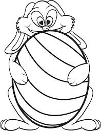 free printable easter egg coloring pages free printable easter coloring page of a bunny holding an easter egg