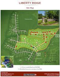 Map Of Williamsburg Va Community Masterplan Map For Liberty Ridge Williamsburg Va