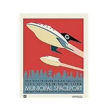 futurama spaceport print acme archives futurama