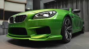 java green bmw heavily modified bmw m6 gran coupe in java green looks like no other