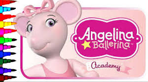 angelina ballerina coloring book pages kids fun art disney