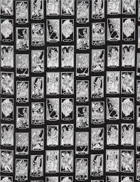black henry fabric rectangle skeleton cartas de vida