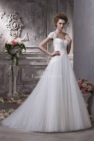 short lace sleeve tulle illusion overlay ball gown wedding dress