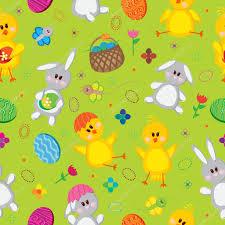 easter eggs bunnies flowers chickens u2014 stock vector lyusjen