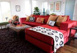 living room red persian rug style amazing red fabric sectional