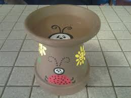 Flower Pot Bird Bath - 24 best bird bath out of clay flower pot images on pinterest