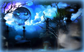 blue moon halloween hd desktop wallpaper widescreen high