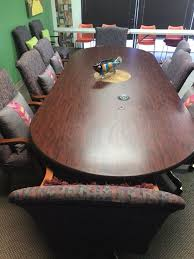 Detachable Conference Table Oval Conference Room Table Business Equipment In Jacksonville