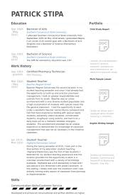 Technician Resume Examples by Certified Pharmacy Technician Resume Samples Visualcv Resume