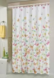 Colorful Fabric Shower Curtains Butterfly Fabric Shower Curtain Multi Color U2013 Empire Home