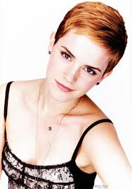 boyfriend haircut photoshoot of emma watson modeling with her short haircut