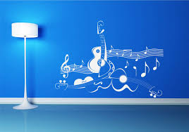 guitar music note symbol violin wall art sticker decal mural guitar music note symbol violin wall art sticker