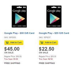 play gift card sale save 10 on play gift cards most android app stores
