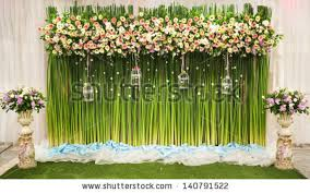 Beautiful Flower Decoration Royalty Free Wedding Backdrop With Flower Decoration 361318943