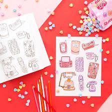 3 printable valentine u0027s coloring book pages dl brit