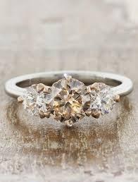 metal stone rings images Ohara three stone cognac diamond engagement ring ken dana design jpg