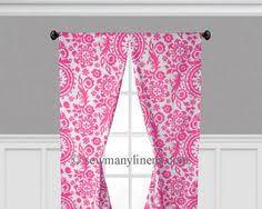 Fuchsia Pink Curtains Fuchsia Pink Black U0026 White Curtains Floral Damask Window