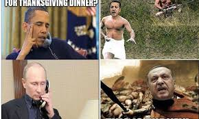 Turkish Meme Movie - looks like putin is having turkey for thanksgiving vladimir putin