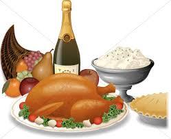 bountiful thanksgiving spread thanksgiving clipart