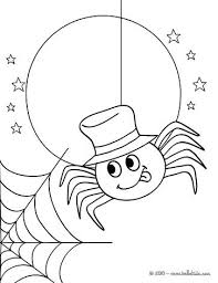 Preschool Spider Web Coloring Page Pages To Color For With Spiders Spider Web Coloring Page