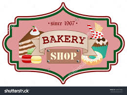 old vintage poster template for bakery shop brown ribbon with