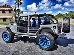 jeep gray blue 2017 jeep wrangler unlimited custom lifted leather hardtop florida