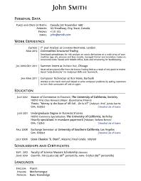 Example Or Resume by Example Of Personal Resume Resume Objective Examples Resume