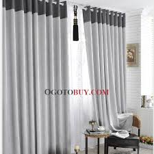 Window Treatments Sale - two story grey and white window treatments linen polyester blend