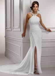 sheath halter wedding dresses naf dresses