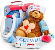 get well soon gifts get well gift basket with plush patient