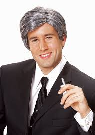 amazon com costume culture men u0027s silver fox wig grey one size
