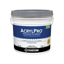 custom building products acrylpro 3 1 2 gal ceramic tile adhesive