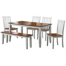 Amazoncom Boraam  Bloomington Piece Dining Room Set - Dining room sets white