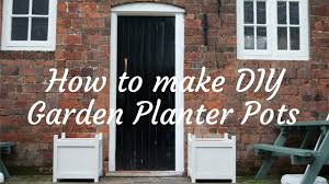 how to make diy garden planters youtube