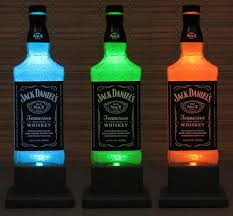 Whiskey Bottle Chandelier 6 Fancy Jack Daniels Whiskey Color Changing Led Remote