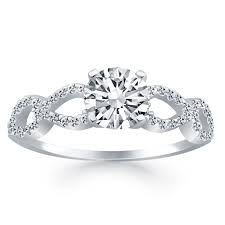 infinity diamond ring infinity diamond engagement ring mounting in 14k white gold