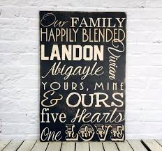 blended personalized family name sign wood madi designs