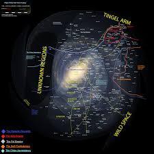 Galaxy Map Star Wars The Drayk Rebellion Galactic Map 2000 Aby Rushforth
