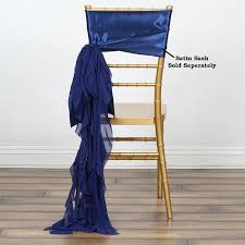 navy blue chair sashes chiffon navy blue curly chair sashes for catering wedding party