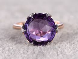 Amethyst Wedding Rings by Diamond Amethyst Engagement Rings Amethyst Wedding Band Bbbgem