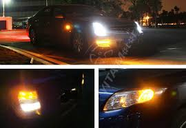 4pcs orange car parking light 3157 led bulbs 68 smd led