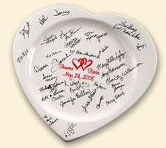 bridal shower autograph plate what is a wedding guest book platter or signature plate